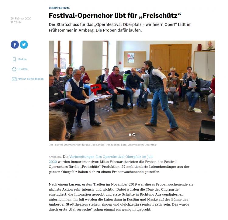Opernfestival Oberpfalz Chor Probenwochenende