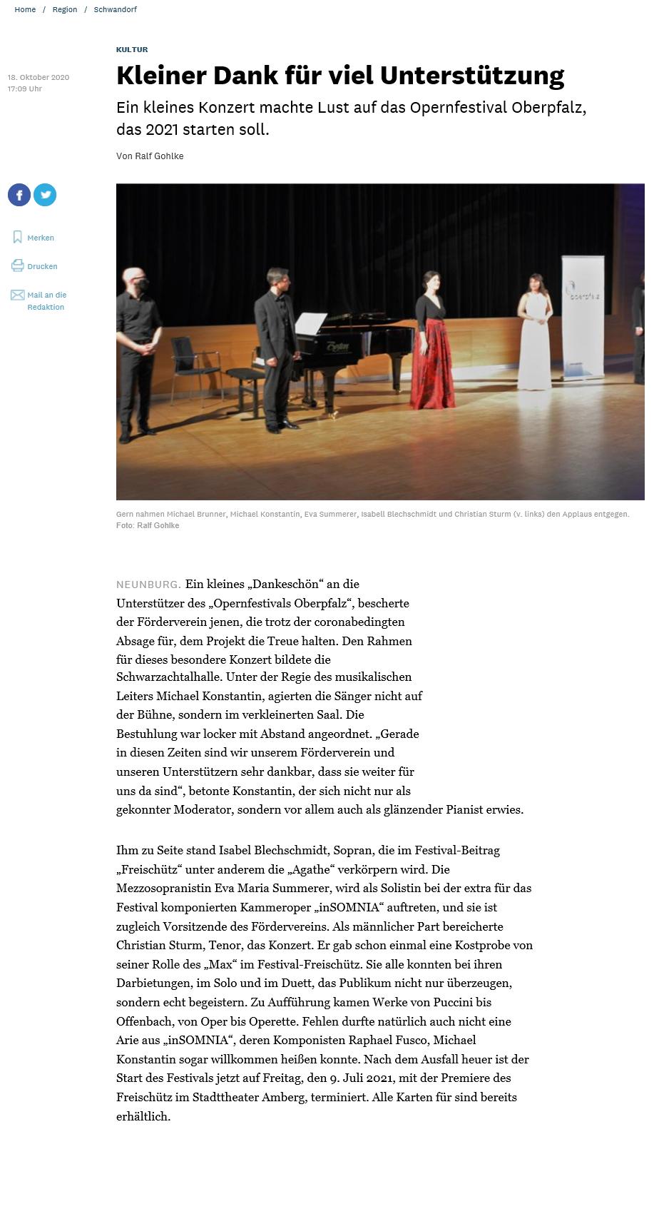 Opernfestival Oberpfalz - Musikalischer Dank an Förderer_MZ_vom_20201018